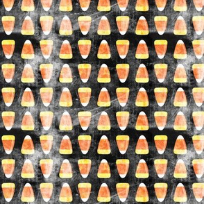 "(3/4"" scale) candy corn - black distressed C18BS"