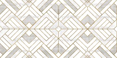 Lennox Vintage Deco-white gold