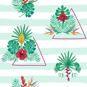 Jungle flora triangles