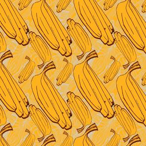 Yellow banana pattern.