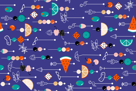 palm springs fruit cocktail fabric by booboo_collective on Spoonflower - custom fabric