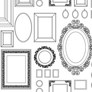 victorian picture frames - wallpaper