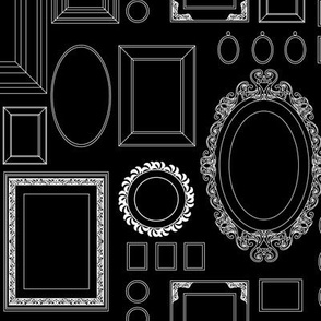 victorian picture frames - wallpaper - black