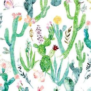 Cactus Garden (white)