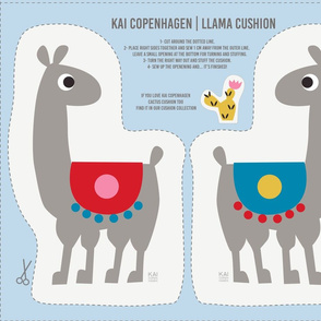 Cut and sew - Llama cushion