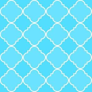 quatrefoil  corner blue #53ddff