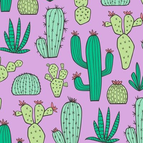 Cactus on Purple