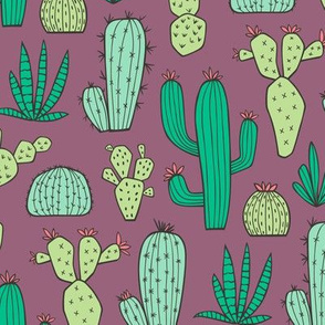 Cactus on Mauve