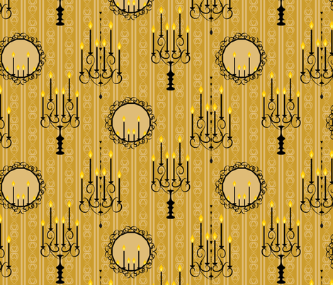 Victorian Interiors yellow fabric by colour_angel_by_kv on Spoonflower - custom fabric