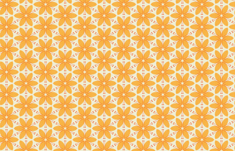 Lilies M+M Honey by Friztin fabric by friztin on Spoonflower - custom fabric