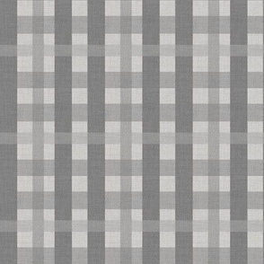 Gunmetal Gray Plaid