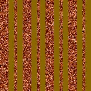 CD2 - Rusty Brown Sparkle Stripes on Olive Brown