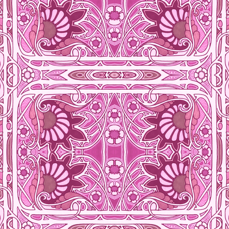 It's A Girl fabric by edsel2084 on Spoonflower - custom fabric