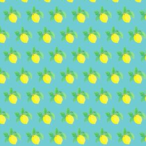 Little Lemon Lulu on turquoise-ch-ed