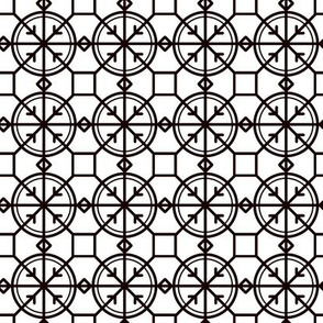 Black and White Geometric Modern Pattern
