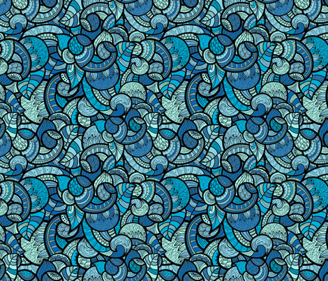 Oceans of Paisley fabric by fabric_is_my_name on Spoonflower - custom fabric
