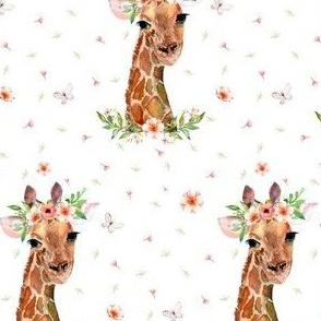 "4"" Floral Giraffe"