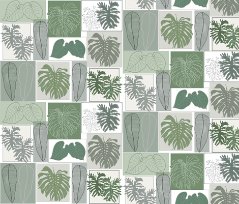 leaves_composition1 fabric by snap-dragon on Spoonflower - custom fabric