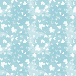 Seamless geometric pattern with hearts. Repeating texture