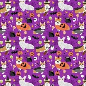 Corgi halloween costumes mummy vampire ghost just dog fabric purple