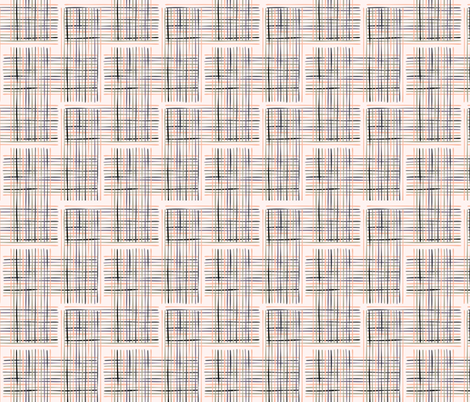 Criss Cross Weave Hand Drawn  fabric by limolida on Spoonflower - custom fabric