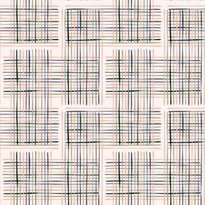 Criss Cross Weave Hand Drawn