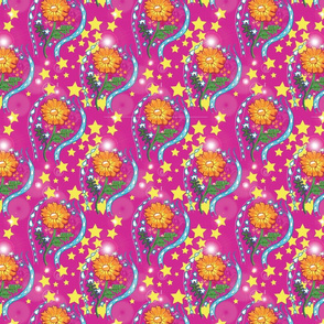 Pink Marigold Sparkle