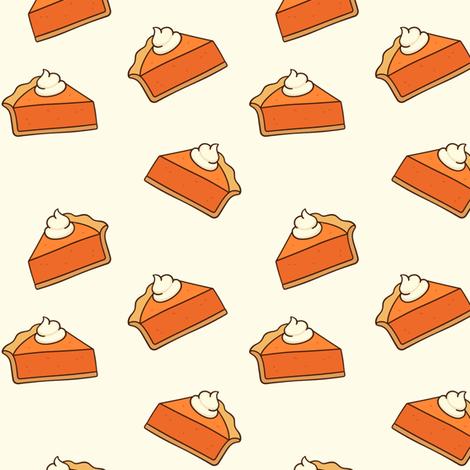 Pumpkin Pie // Buttery White // Small fabric by hipkiddesigns on Spoonflower - custom fabric