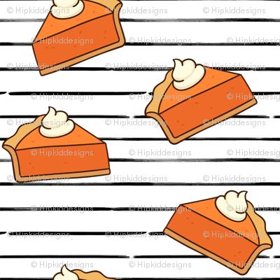 Pumpkin Pie // Black Stripes // Small