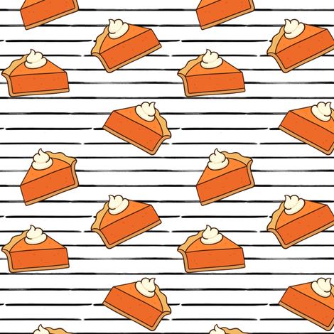 Pumpkin Pie // Black Stripes // Small fabric by hipkiddesigns on Spoonflower - custom fabric