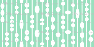 Dot Strings Small (Mint and White)