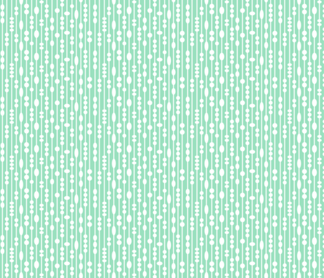 Dot Strings Small (Mint and White) fabric by brendazapotosky on Spoonflower - custom fabric