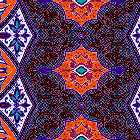 arabesque 179 fabric by hypersphere on Spoonflower - custom fabric