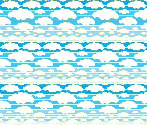 Blue Skies fabric by georgia_pea_davis on Spoonflower - custom fabric