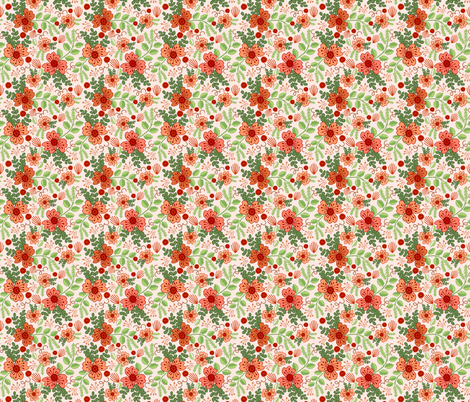 Autumn Poppies fabric by denise_ortakales on Spoonflower - custom fabric
