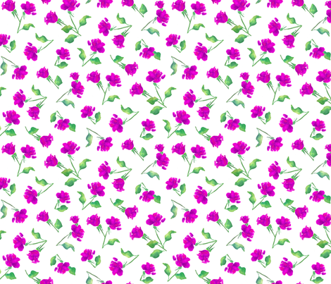 Loose Roses Pink fabric by ileneavery on Spoonflower - custom fabric