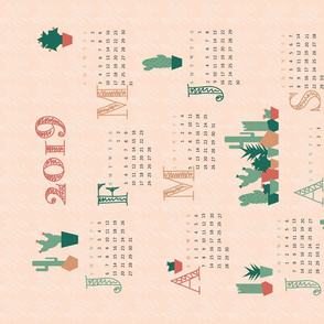 calendar 2019 tea towel