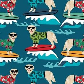 golden retriever surf dog - cute dog, dogs, surfing, surf, summer beach dog