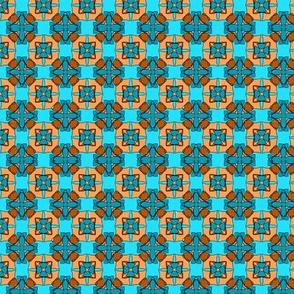 pumpkin blue tile