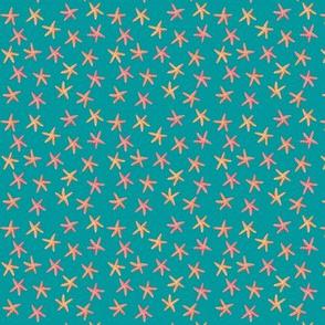 Sea Stars Teal S