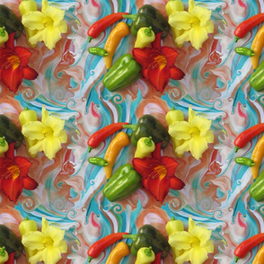 Salsa Peppers Swirl