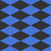 Contrasting black blue diamond shapes Fabric