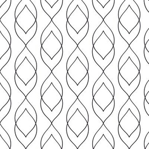 Black and White Geometric Design