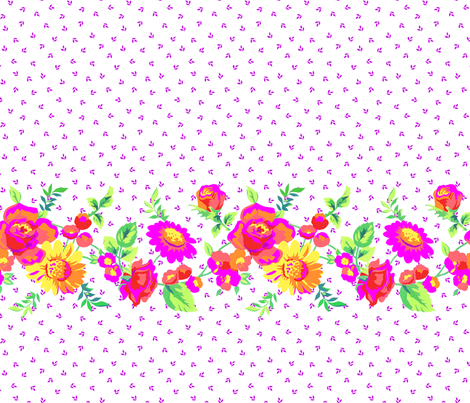 Gouache Floral Stripe fabric by ileneavery on Spoonflower - custom fabric