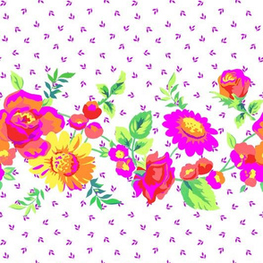 Gouache Floral Stripe