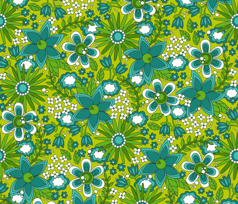 Peace, Love and Flowers fabric by robyriker on Spoonflower - custom fabric
