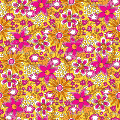 Peace, Love and Flowers (Pink)