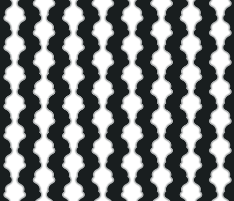 Black and White Damask fabric by silveroakdesign on Spoonflower - custom fabric