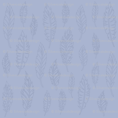 Blue Feather Pattern
