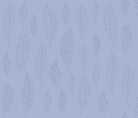 Blue Feather Pattern fabric by silveroakdesign on Spoonflower - custom fabric